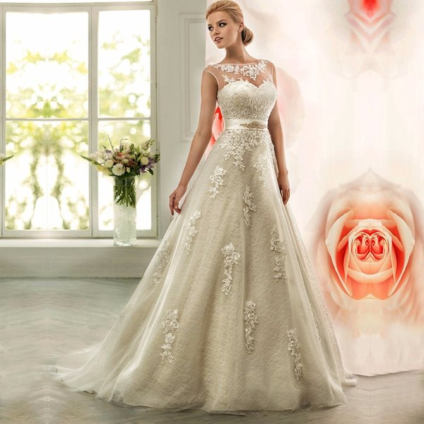 Lace Long Wedding Dresses 2016 Turkey Country Western Crystal Sashes Plus Size Bridal Bride Dress
