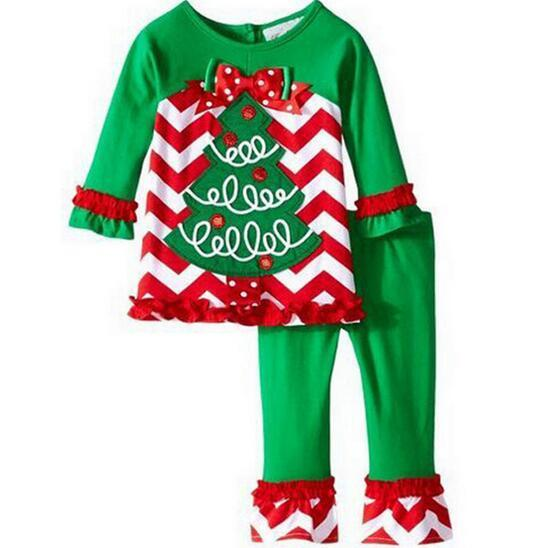 2016 New Deer Cartoon Christmas Pajamas Set For Baby Kids ...