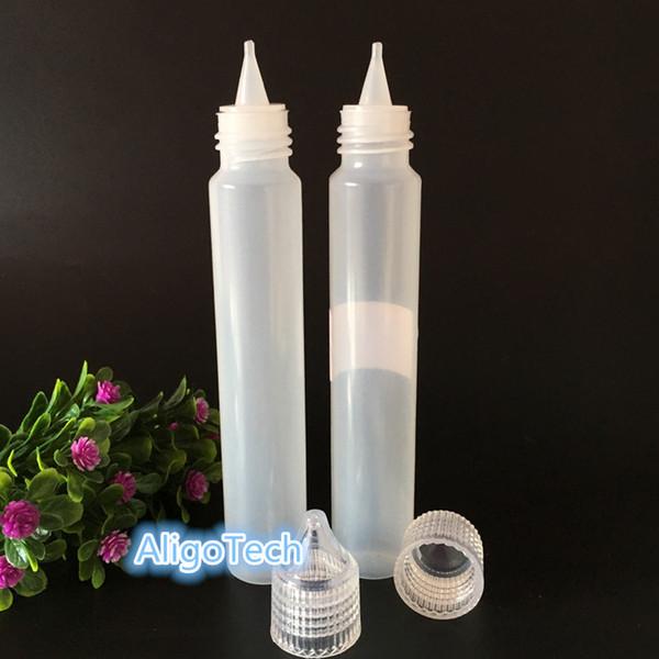 Crystal Cap 1000Pcs 30ML E Liquid Wide Mouth Bottles Plastic Pen Style Bottles 1oz Dropper Empty PE Bottle For Essential Oil Eliquid