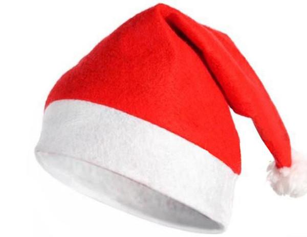 Nuevos artículos navideños Cap Thick Ultra Soft Plush Santa Claus Christmas Holiday Hat 30 * 40cm Christmas Cap Santa Caus Hat LLFA