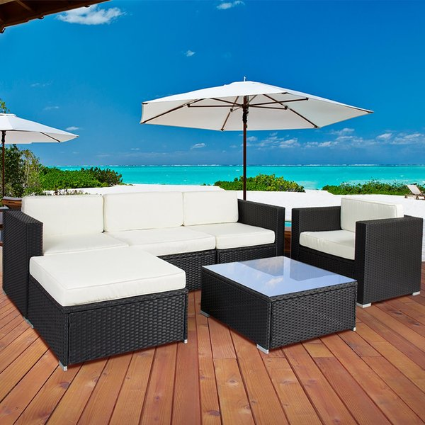 Best S 6 Piece Outdoor Patio Garden Furniture Wicker Rattan Sofa Set Sectional