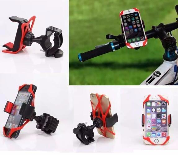 Bike Bicycle Spider Web Stand Holder Phone Holder Handlebar Clip Stand Mount Bracket 360 Degree Rotatable for iphone 6s Cell phone GPS