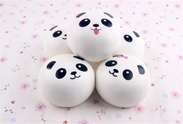 TO Us New 2018 cute Panda Squishy Buns Bread Charms, Mini panda expression(4cm) Squishies Cell Phone Straps,