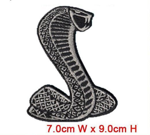 Schlangentier-Aufnäher zum Aufbügeln oder Bügeln von Kleidern Huttasche Computer bestickte Fabrik in China-Logo-Aufnäher
