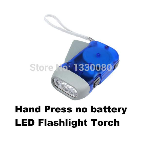 Hot Sale Hand Press Flashlight Torch Button Battery 3 LED New N E5M1 order<$18no track