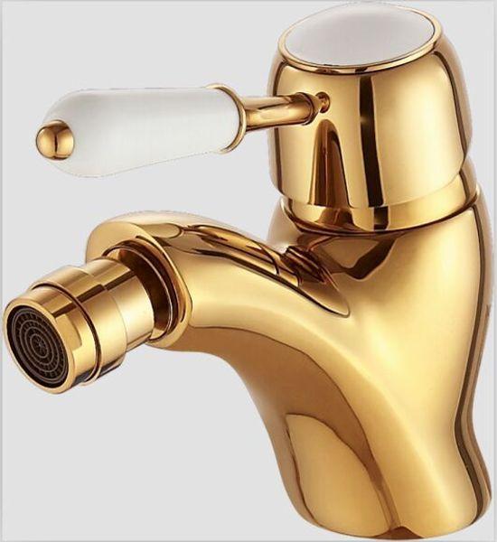 best selling Singe hole bathroom bidet faucet mixer tap Gold color deck mounted