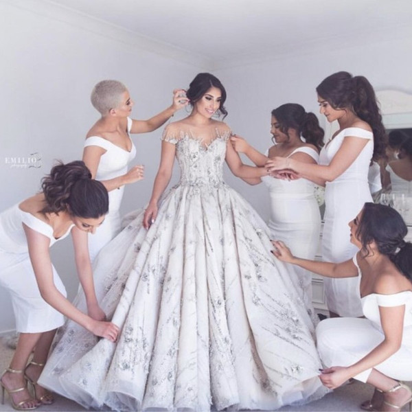 Discount Stunning Latte Coloured Wedding Dresses Beautiful Beading ...