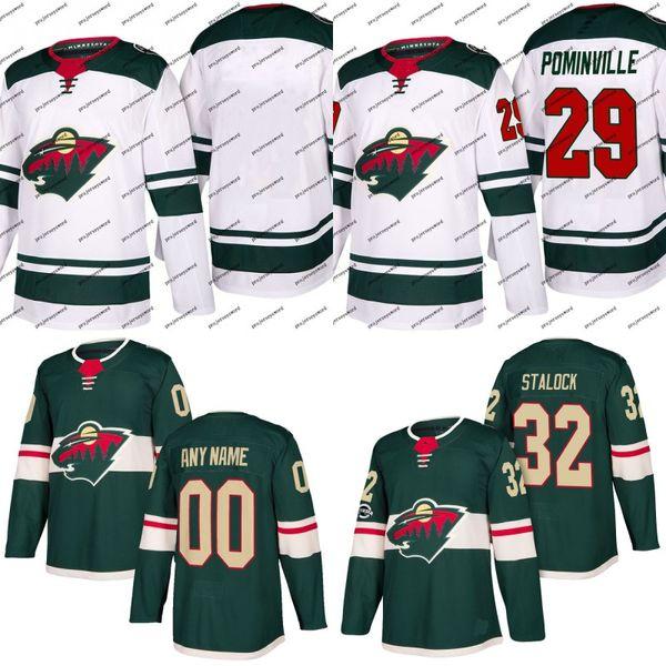 Minnesota Wild Jersey 58 Mason Shaw 59 Zack Mitchell 60 Carson Soucy 61 Jacob Golden Custom Hockey Jerseys White Green Free Shipping