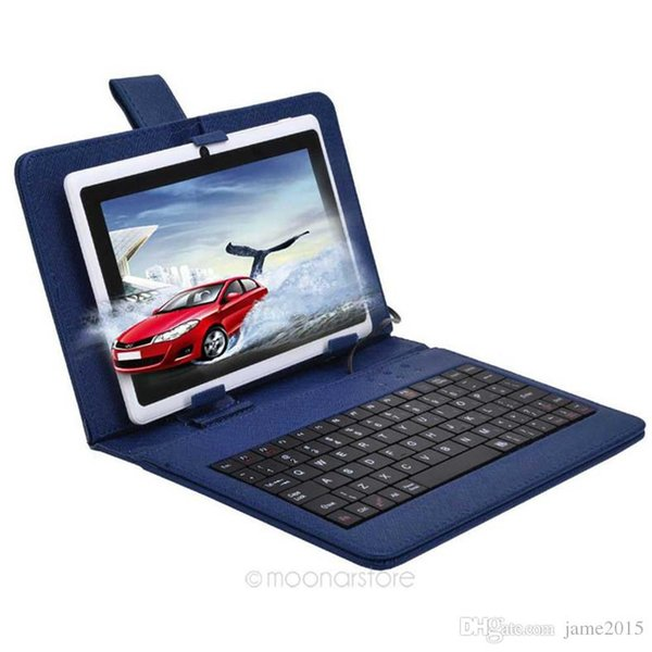 In Stock 7 inch keyboard case Universal PU Leather Micro USB / Standard USB 7 keyboard case for 7.0 inch Tablet