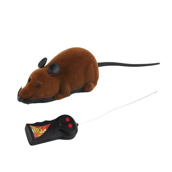 2017 Hot Sale Scary Remote Control Simulation Plush Mouse Mice Kids Toys Gift for Cat Dog 3 Colors