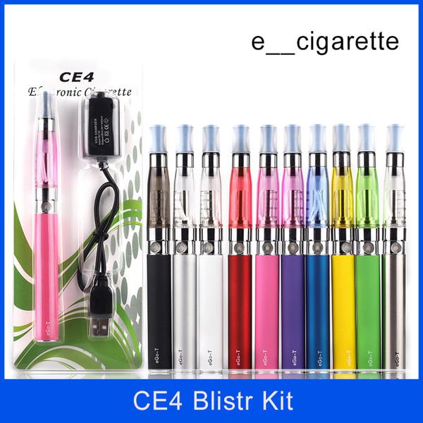 Ego Starter Kit CE4 Zerstäuber Elektronische Zigarette e Cig Vape Kit 650mAh 900mAh 1100mAh EGO-T Batterie CE4 Blister Kit Clearomizer E-Zigarette