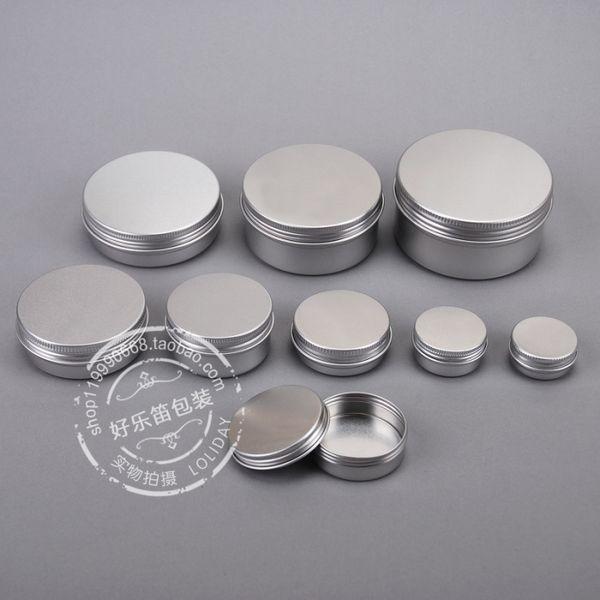 15 ml Aluminium Dosen Topf Glas Balsam Kosmetikbehälter mit Gewinde Lip Balm Gloss Candle Verpackung