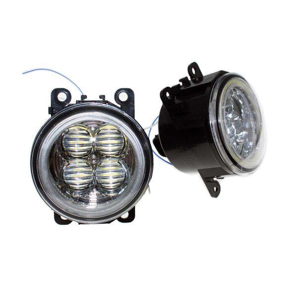 For LAND ROVER FREELANDER 2 LR2 2006-2014 Car Styling Bumper Angel Eyes LED Fog Lamps DRL Daytime Running Fog Lights OCB Lens