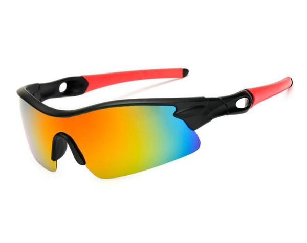 Men Sports Polarized Fashion Sunglasses Siamese Resin Lenses Windproof Goggles Dazzle Colour Sun Glasses 5 Color Half Frame Eyeglasses Cheap