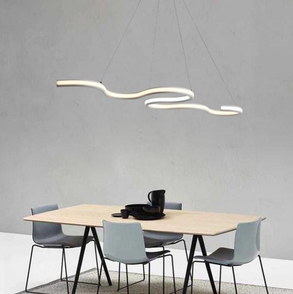 Modern Led Hanging Pendant Lights Double Glow Suspension luminaire Pendant Lamp Dining Kitchen Room High Brightness Length 1200mm LLFA