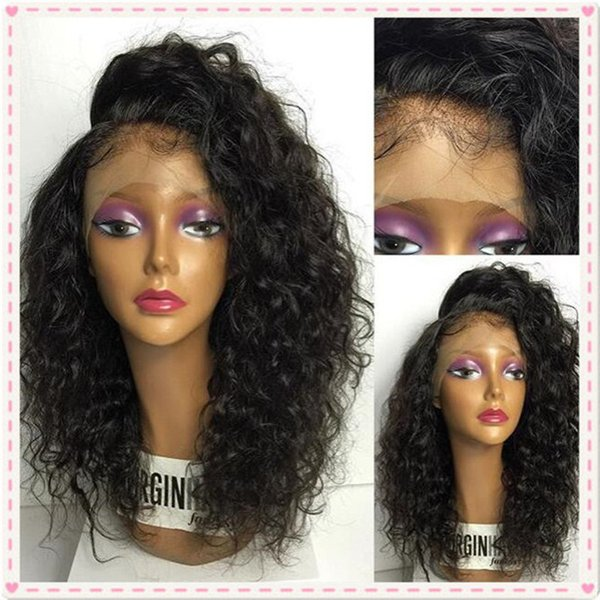 Brazilian Wet and Wavy Lace Front Human Hair Wigs For Black Women Water Wave Glueless Full Lace Wigs 130% Density Bleached Knots