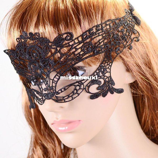 openwork lace mask on half face veil mysterious fashion sexy party prom hollow mask