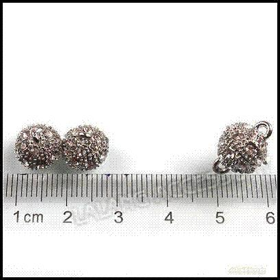 12Pairs/lot Wholesale Clear Rhinestone Tips Strong Magnetic Clasps Jewelry Finding 15mm For Bracelet and Necklace Making 160539