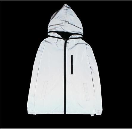 top popular NEW 3m reflective jacket men women windbreaker jackets hooded streetwear coats 3m jacket windbreakers S-4XL 2019