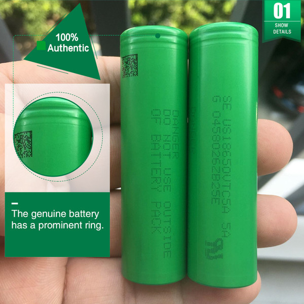 best selling 100% Authentic Sony VTC5A 5A 2600MAH 40A 18650 Battery High Drain Rechargeable Batteries vs VTC5 VTC6 For Ecig vw Mod Fedex Free Shipping