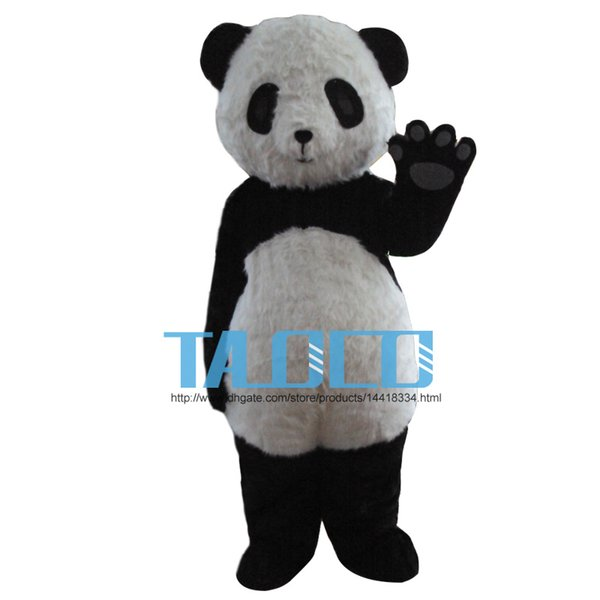 top popular Panda Mascot Costume Adult Size Panda Bear Mascot Costume Free Shipping 2020