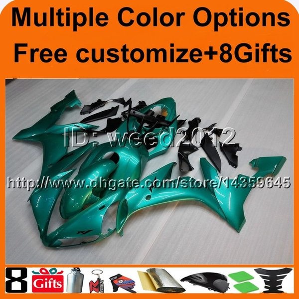 23colors+8Gifts panels GREEN fairing YZFR1 2004 2005 2006 yzf r1 hull motor cover ABS motorcycle Fairings for Yamaha
