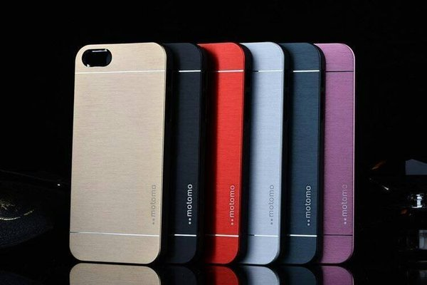 Iphone x 7 6 5 5s Case Motomo Luxury Metal Aluminum Brushed PC Hard Back Cover Skin Ultra Thin Slim Cases For iPhone 8 6 7 plus Samsung s7