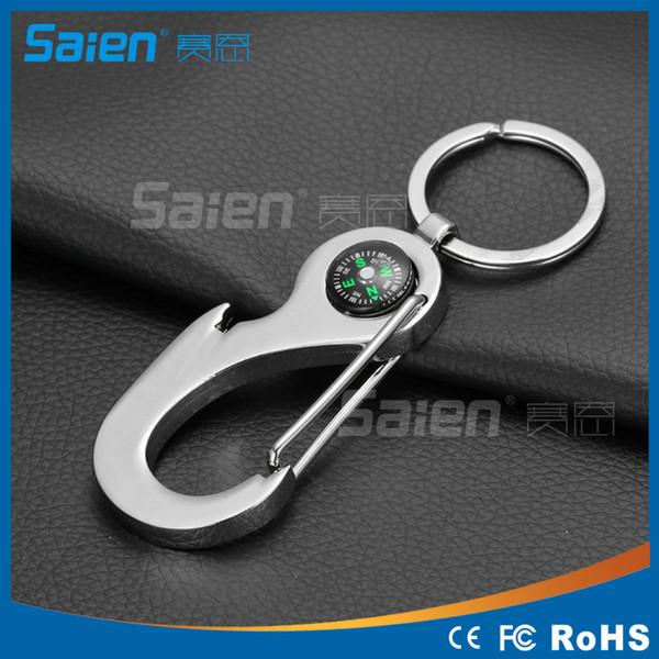 Mini Compass Waist Hanging Car Key Ring Climbing Carabiner Keychain Gift Outdoor
