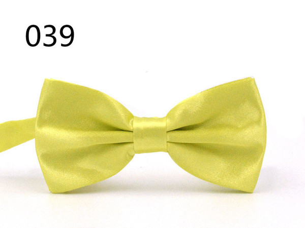 top popular Hot Men's Women's Bowtie Bow Tie Solid Colors Tied Ties For Party Wedding Fashion Accessories Free Shipping 2020