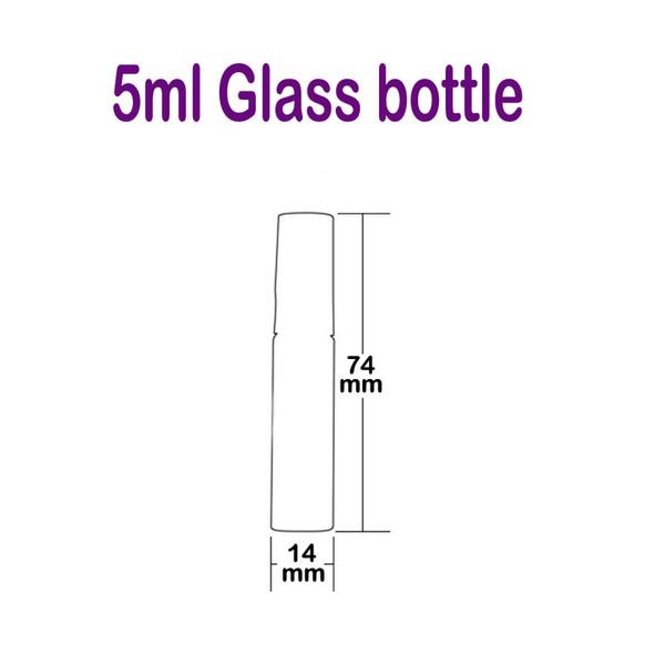 5ml frasco de vidrio