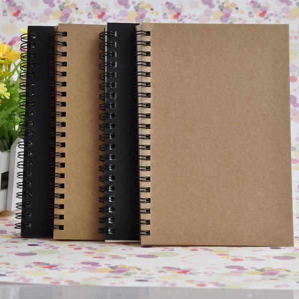 Retro Kraft Caderno De Papel Para Desenho Graffiti Espessamento Esboço Livro Quadrado Em Branco Com Bobina de Blocos de Notas de Alta Qualidade 2 8jc2 BY