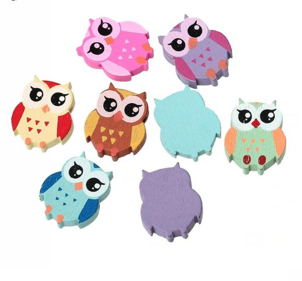 DY89 Hot new DoreenBeads Wood Spacer Beads Owl Mixed At Random About 22.0mm x 18.0mm, Hole: Approx 2mm