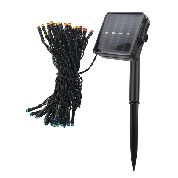 Wholesale- 50 LED 2 Modes Solar String Lights Perfect Outdoor Garden Decoration for Christmas Wedding Party Valentine's Day Halls Stages--W