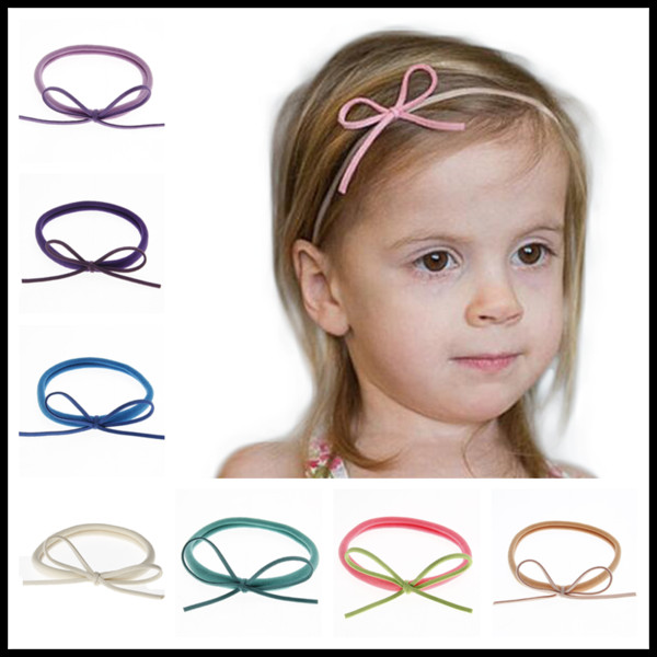 HOT 22 Colors Nylon Infant Headbands Mini Knots Baby Boutique Hair Accessories Newborn Birthday Party Gifts Photography Props
