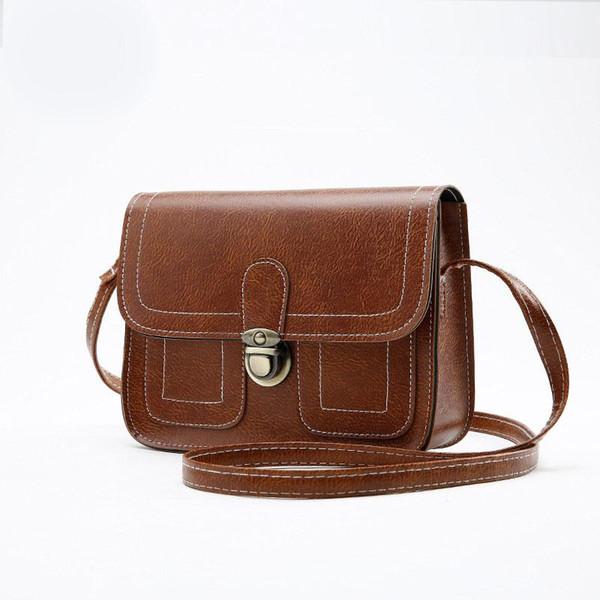 Designer Handbags Small Square PU Bag Lady Retro Mini Bag Messenger Women Mobile Phone Fashion Solid Wallets Handbag Purse