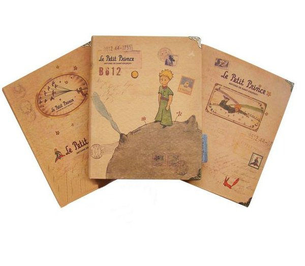 Wholesale- 1 pcs Notebook The Little Prince series Hard Cover Note Embroider planner Diary book Notepad Office School Supplies Stationery