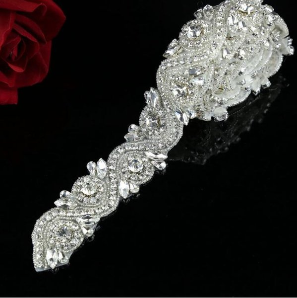 1 Yard Bridal applique, rhinestone applique Trimming,, high end applique,Sash Applique,diy Headband free shipping