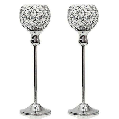Crystal Candelabra Candle Tealight Holders Stand for Wedding Party Home Decoration Dinning Table Centerpiece Candlestickes Housewarming Gift