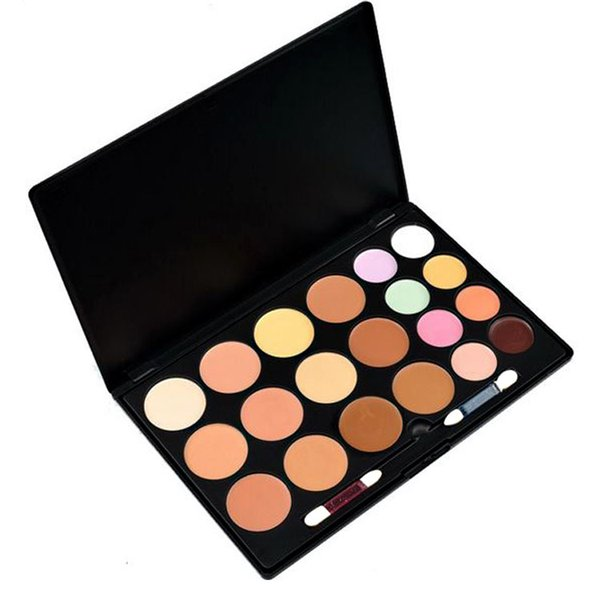 20Colors Makeup Concealer Face Cream Concealer Foundation Palette Makeup Concealer with makeup brush without LOGO 2016 DHL