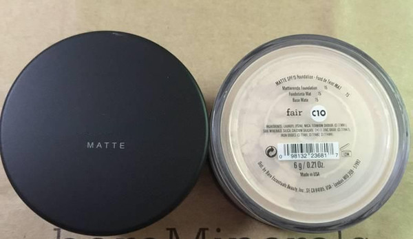 best selling Matte makeup Minerals original Foundation Fair c10 fairly medium C20 medium C25 fairly light N10 Light W15 medium beige N20 medium tan