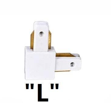 Connettore L (bianco / nero)