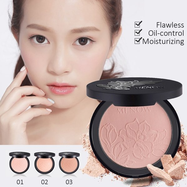 MENOW Snow Oil Control Pressed Powder Foundation Lasting Concealer Delicate Moisturizing Foundation Facial Makeup Base for Oily Skin