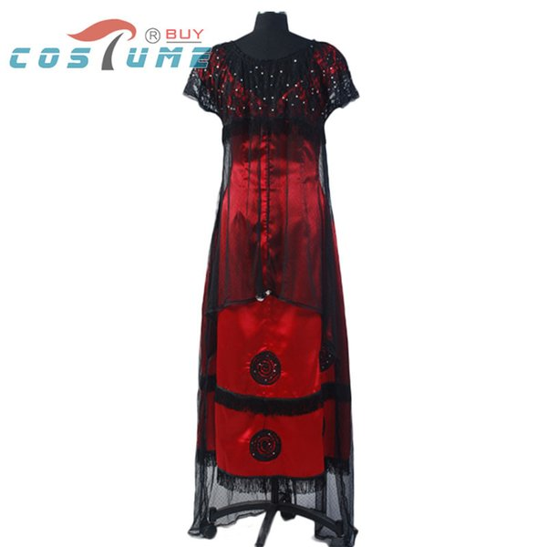 Wholesale-Titanic Jack Rose Jump Long Lace Dress Black Red Party Cosplay Costumes For Women Victorian Custom Made