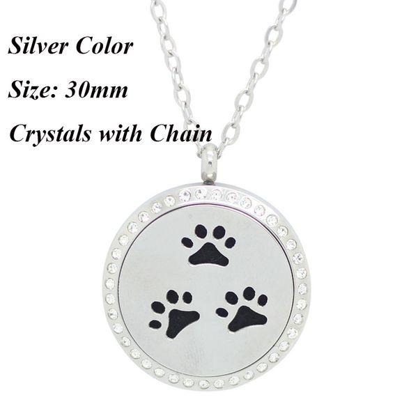 30мм серебро камень