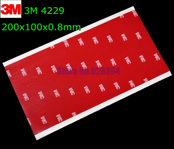 Wholesale-10pcs/lot Wholesale 3M Automotive Car Tape 3M 4229 Double Sided Adhesive Acrylic Foam Tape Mounting Tape Gray 200mmx100mmx0.8mm