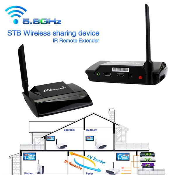 Freeshipping Üstün Kalite 5.8 GHz 300 M HDMI 1080 P AV Gönderen TV Kablosuz Verici Alıcı Ses Video