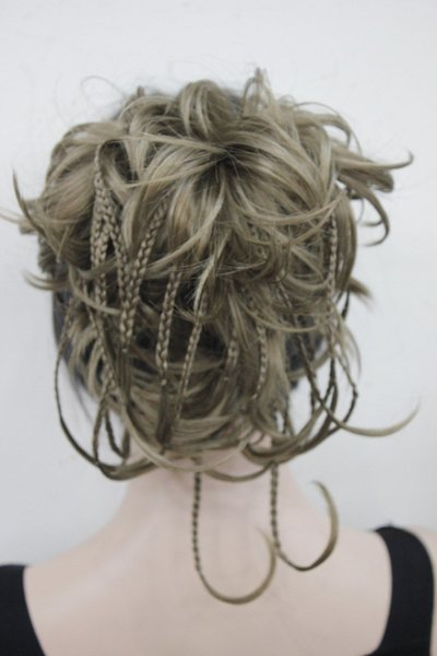 """free shipping beautiful charming new hot Elegant Hivision Curly 14"""" Blonde mix Synthetic Hair Full Women's Short"""
