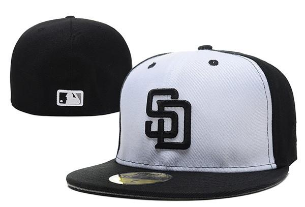 2018 Padres Fitted Baseball Caps Black White Color SD Sports Full Closed Hats Outdoor Fashion Hip Hop Cheap Wholesale Price Chapeau Bones