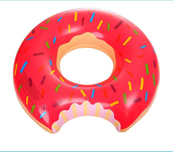 best selling 60cm inflatable kids swim pool floating Strawberry Donut ring water sports float swimg ring free shipping children swim pool toy