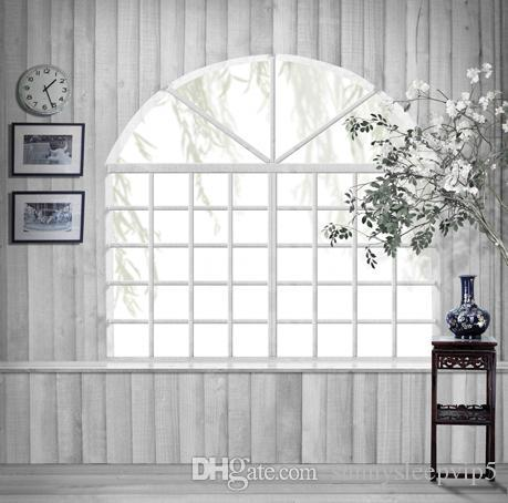 French Window Indoor Backgrounds for Photo Studio Props 5X7ft Vinyl Cloth Wedding Children Family Photography Backdrops